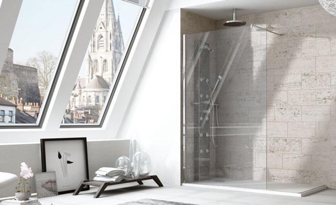 Aluminios Tecnoal - Mampara de baño una hoja de vidrio